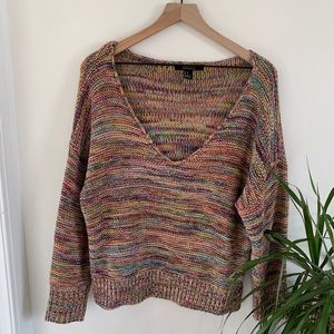 Sweaters - Colorful V-Neck Sweater